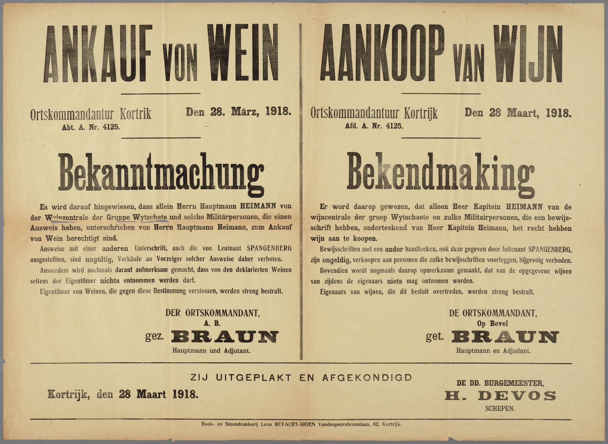 Oorlogsaffiche 1918
