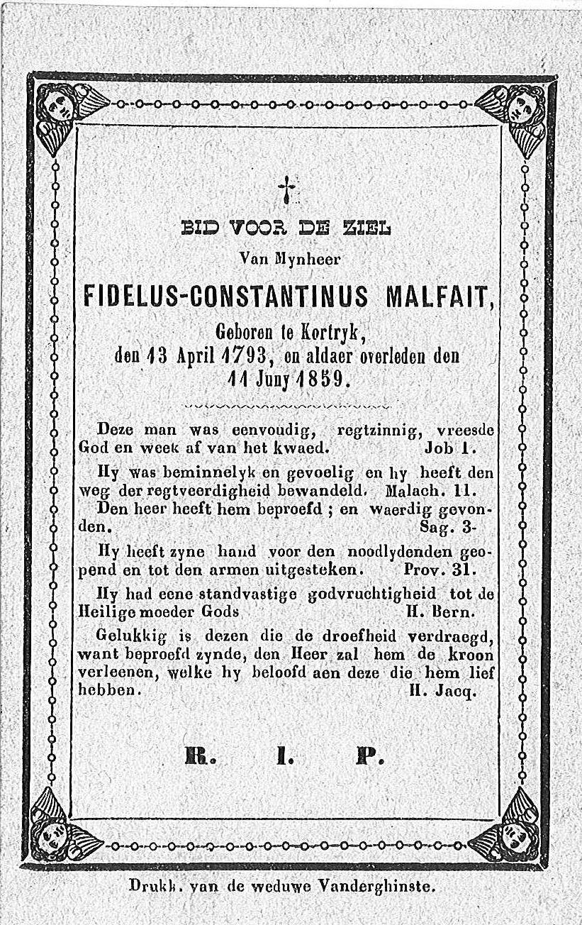 Fidelus-Constantinus Malfait