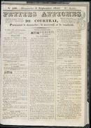 Petites Affiches De Courtrai 1840-09-06