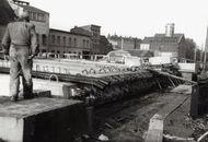 Bouw Budabrug 1950