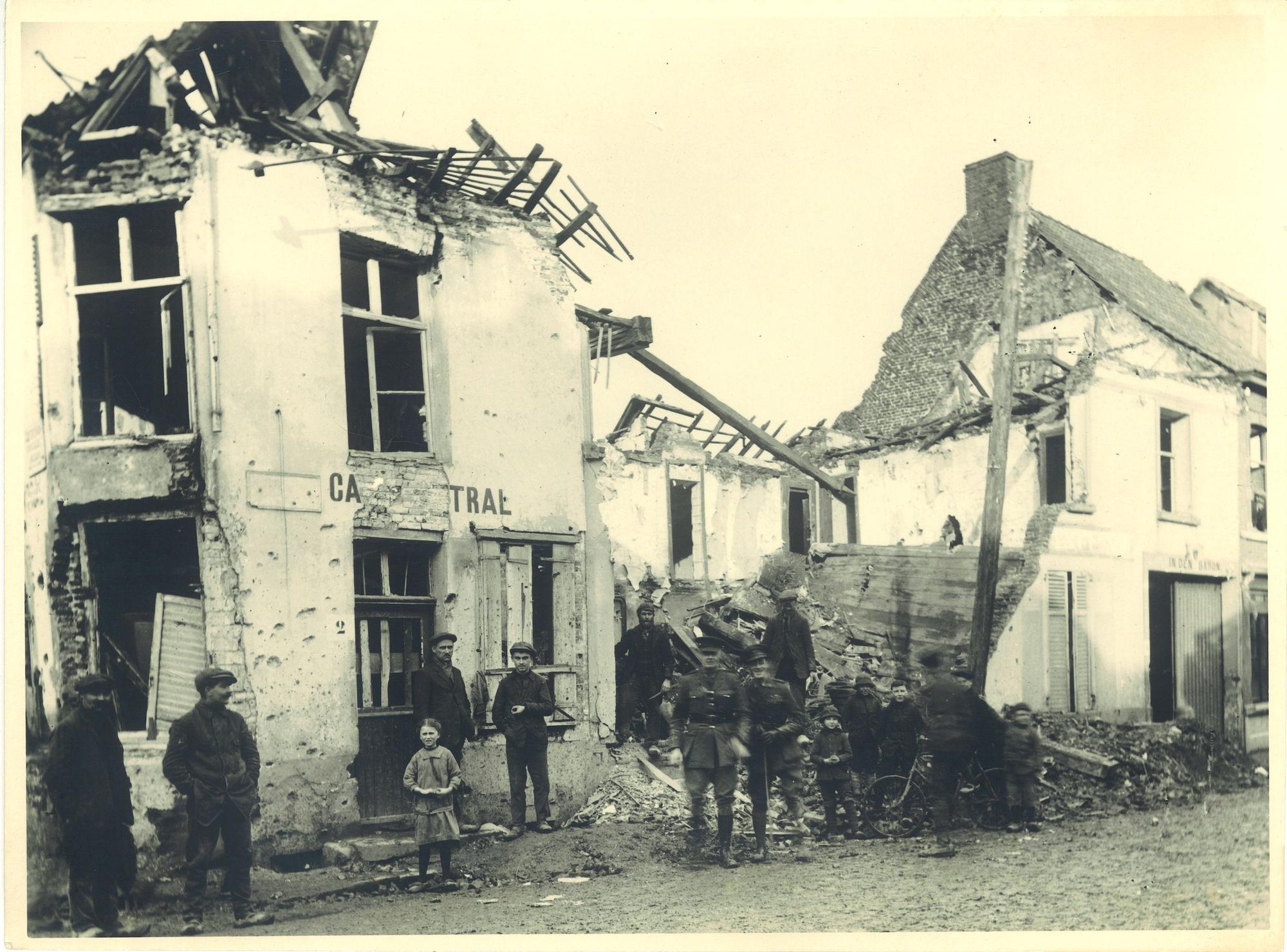 Menenstraat tijdens Wereldoorlog I