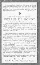 Petrus De Bondt