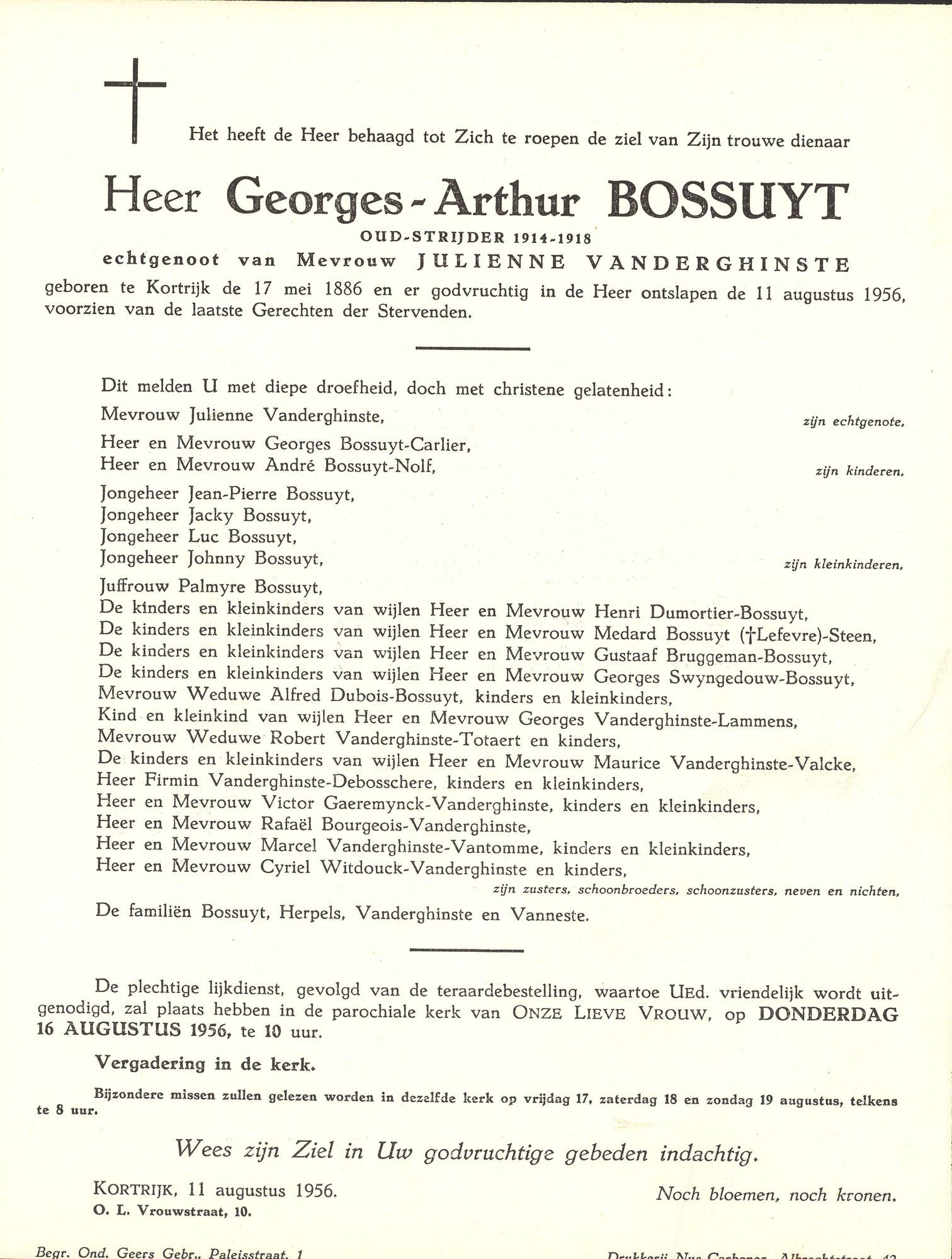 Bossuyt Georges-Arthur
