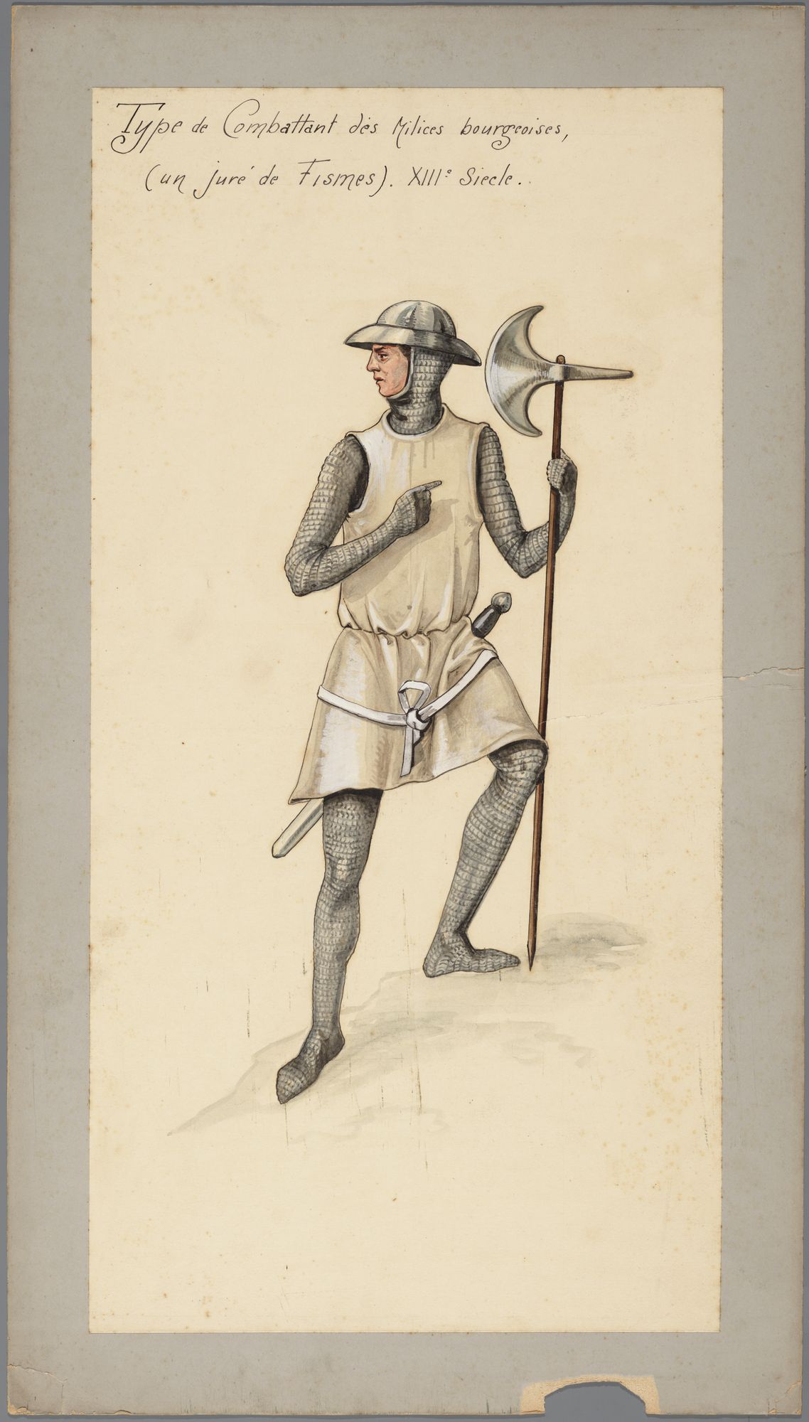 Strijder van de Poortersmilitie in de 13de eeuw