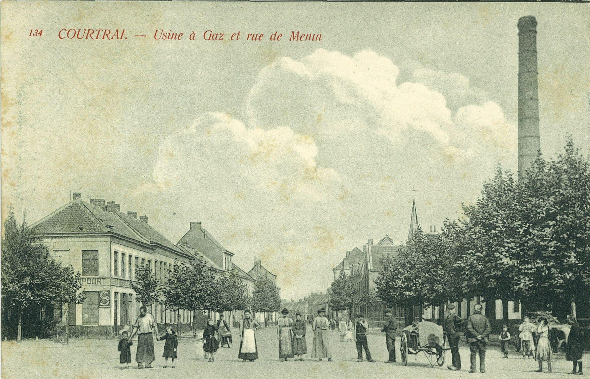 De gasfabriek in de Meensestraat