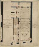 Bouwplan voor de schouwburg te Kortrijk, opgemaakt door C. Tant, 1824