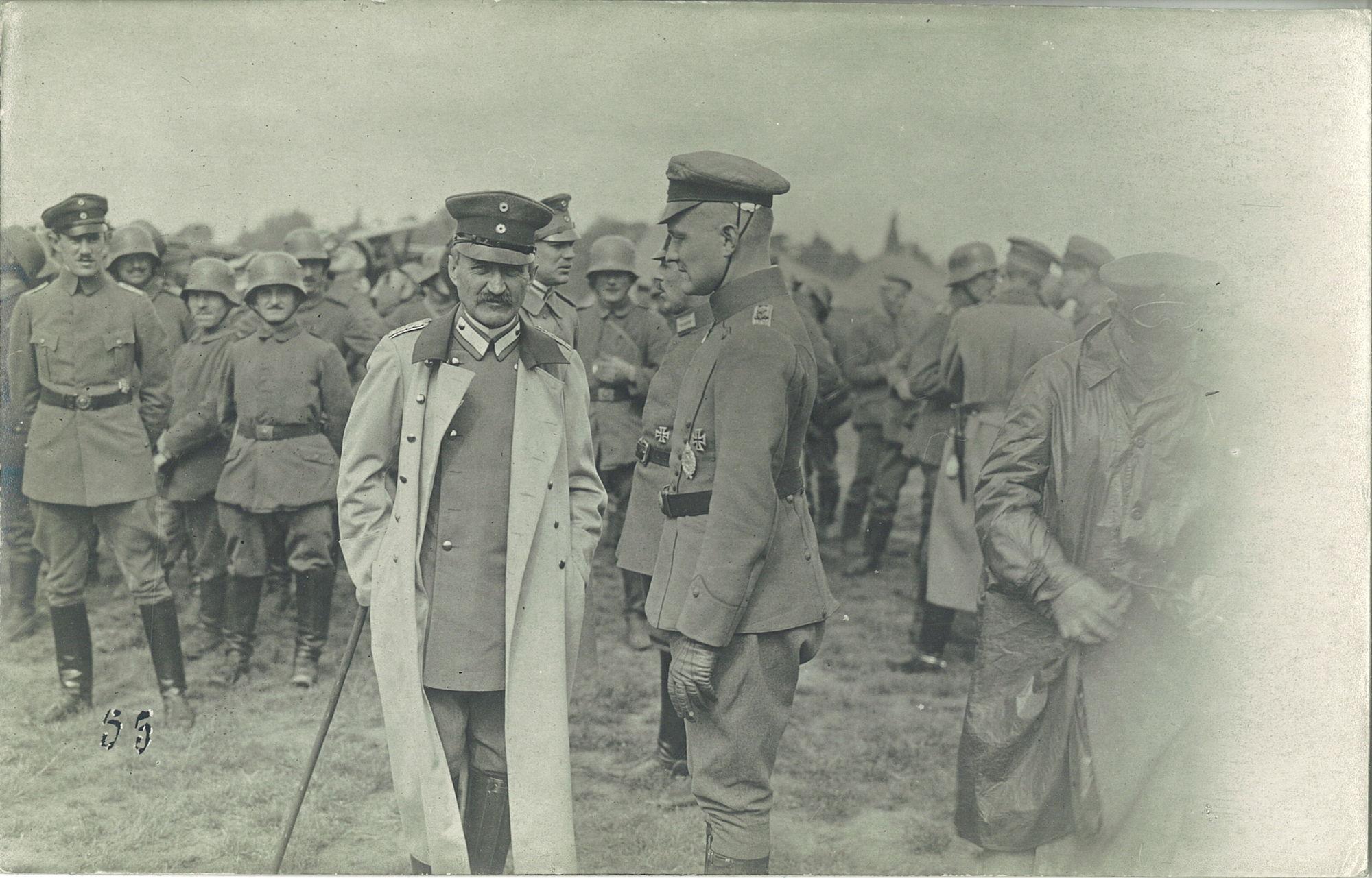Ontmoeting Von Richthofen en de Kanselier