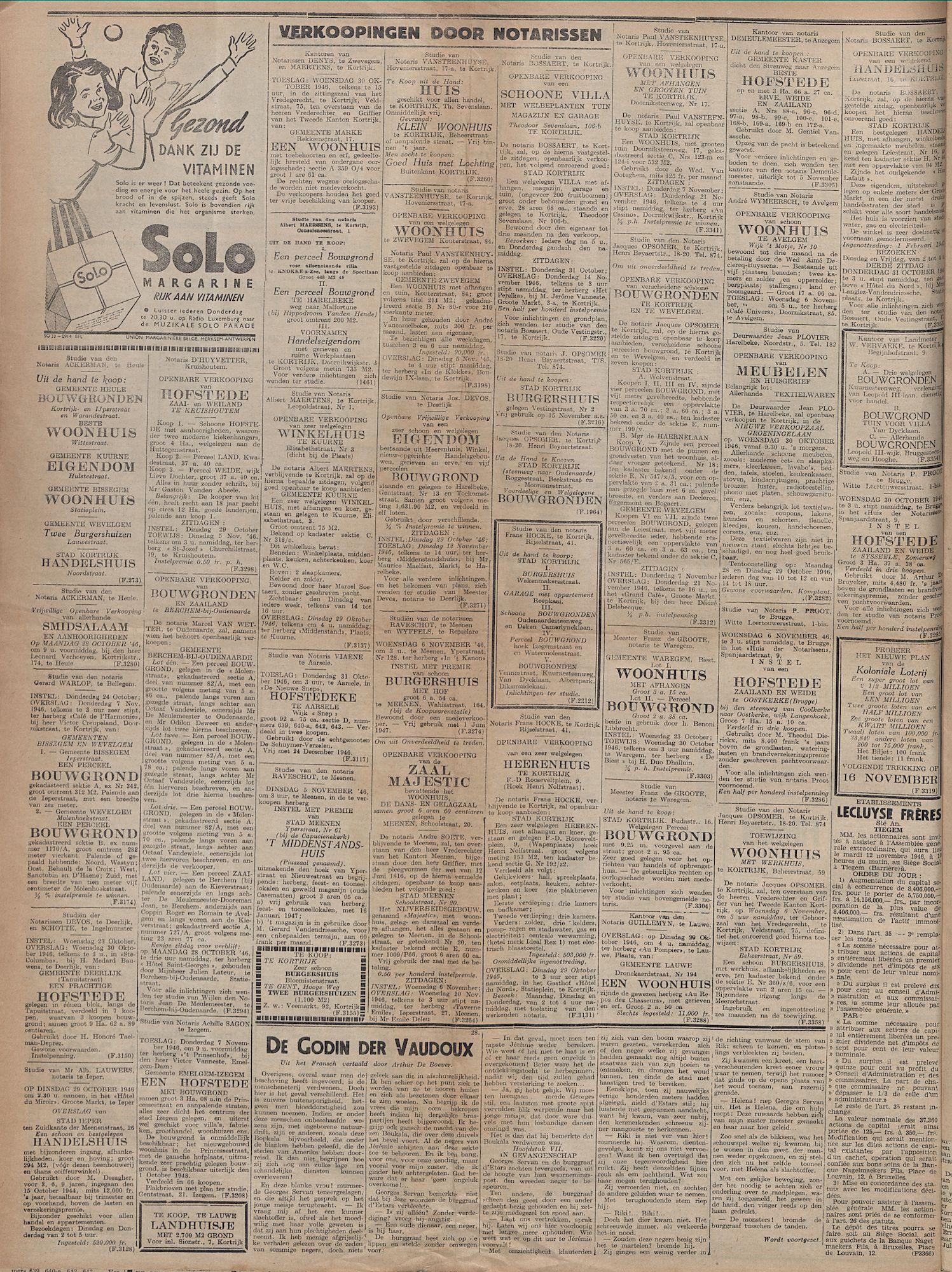 Kortrijksch Handelsblad 25 oktober 1946 Nr86 p4