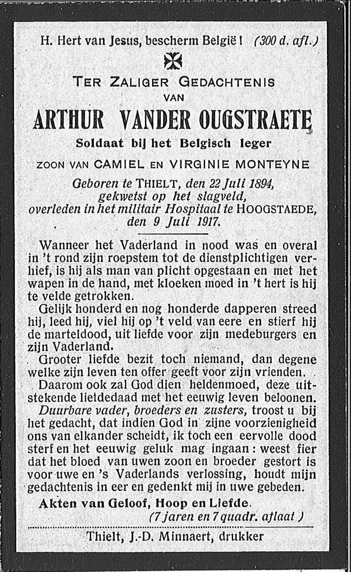 Arthur Vander Ougstraete
