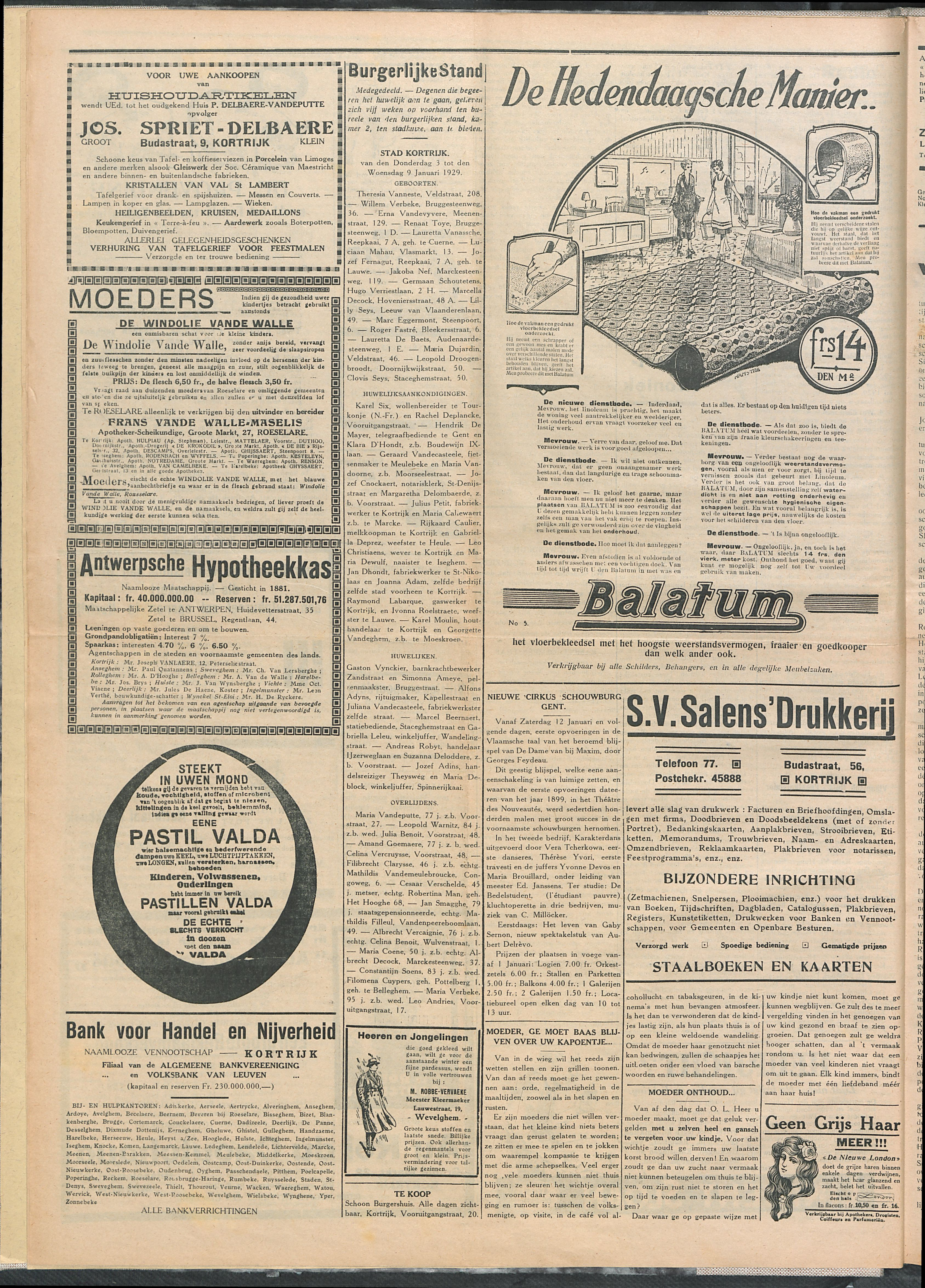 Het Kortrijksche Volk 1929-01-13 p4