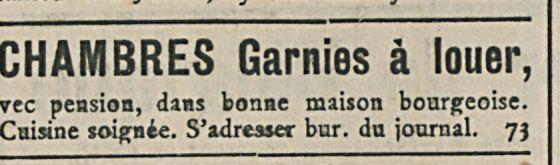 CHAMBRES Garnies a louer