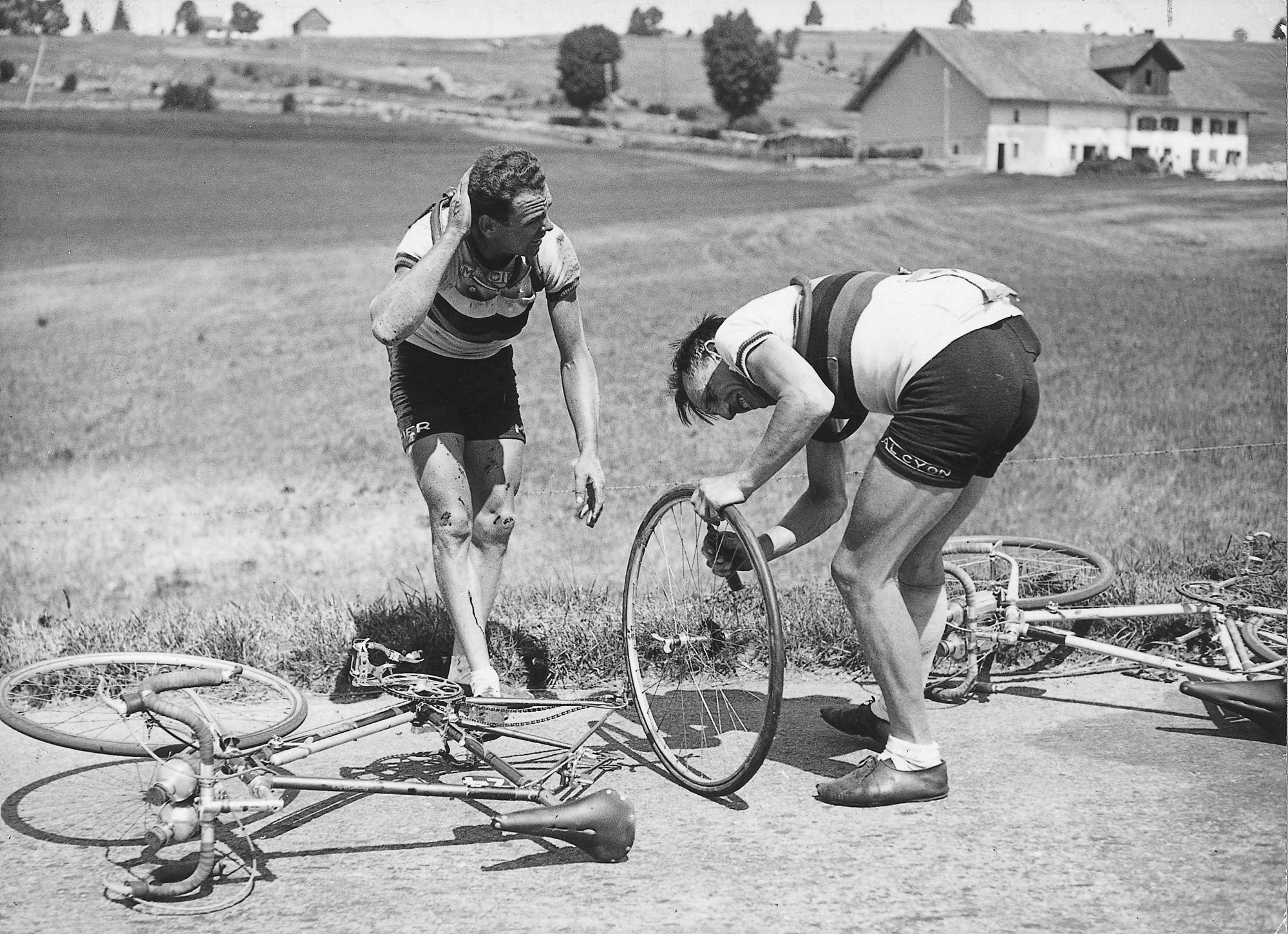 Wielerwedstrijd in 1949
