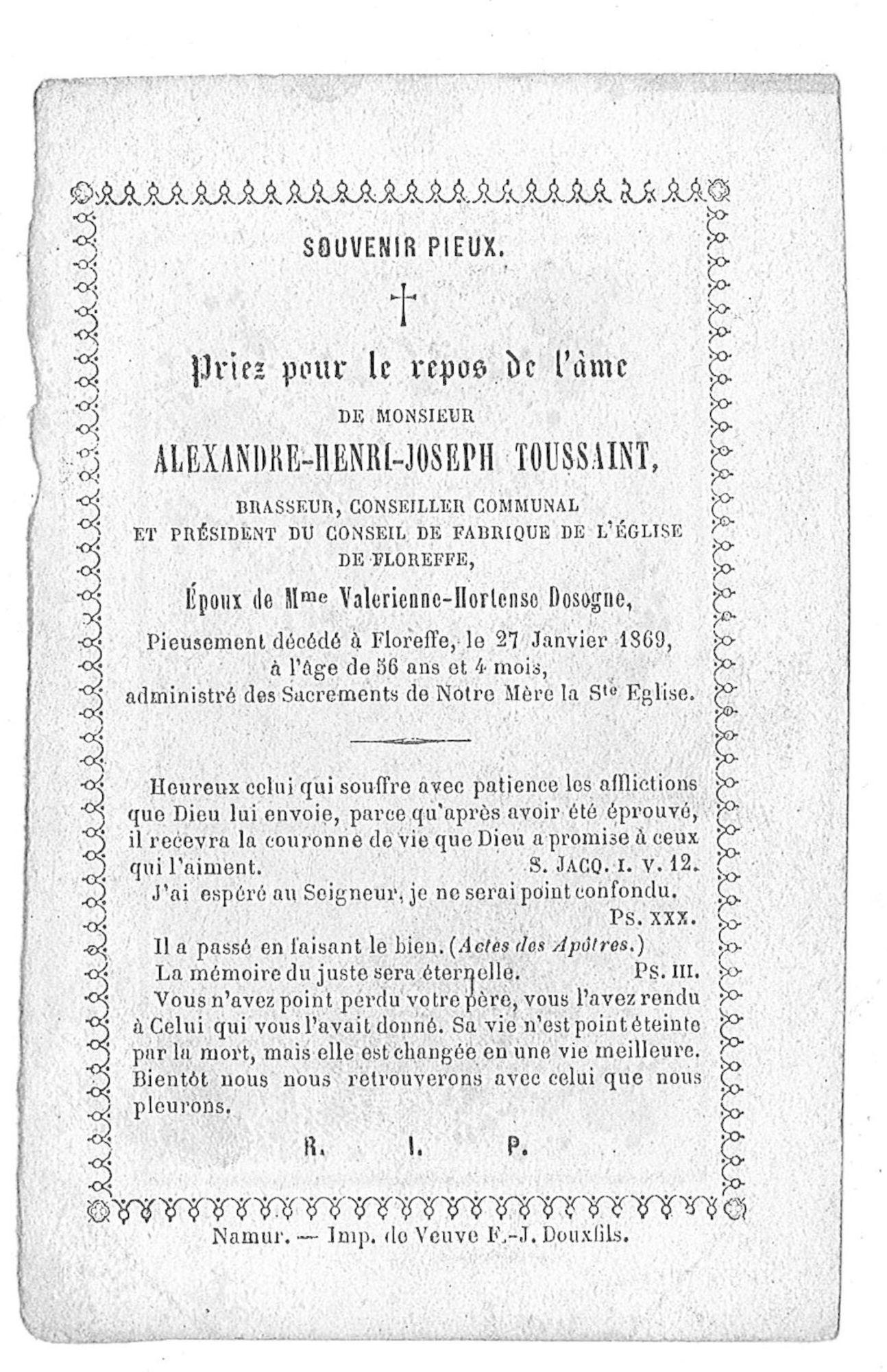 Alexandre-Henri-Joseph Toussaint