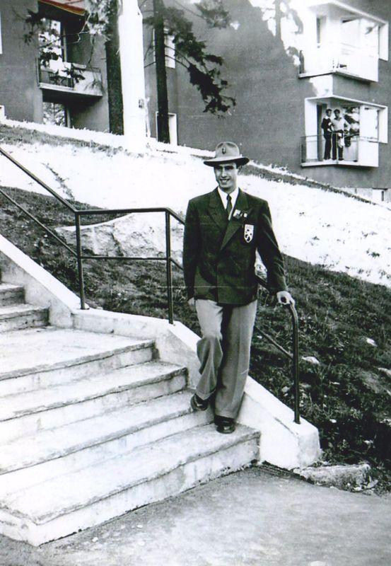 Lucien Demuynck in tenue voor OS