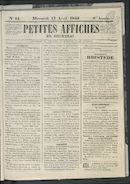 Petites Affiches De Courtrai 1842-04-13