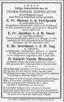 Van Kerckhove A. - Van Belleghem K. - Gryson L. - Vande Mosselaer Kamiel