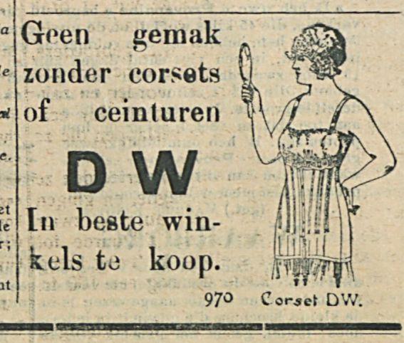 Geen gemak zonder corsets