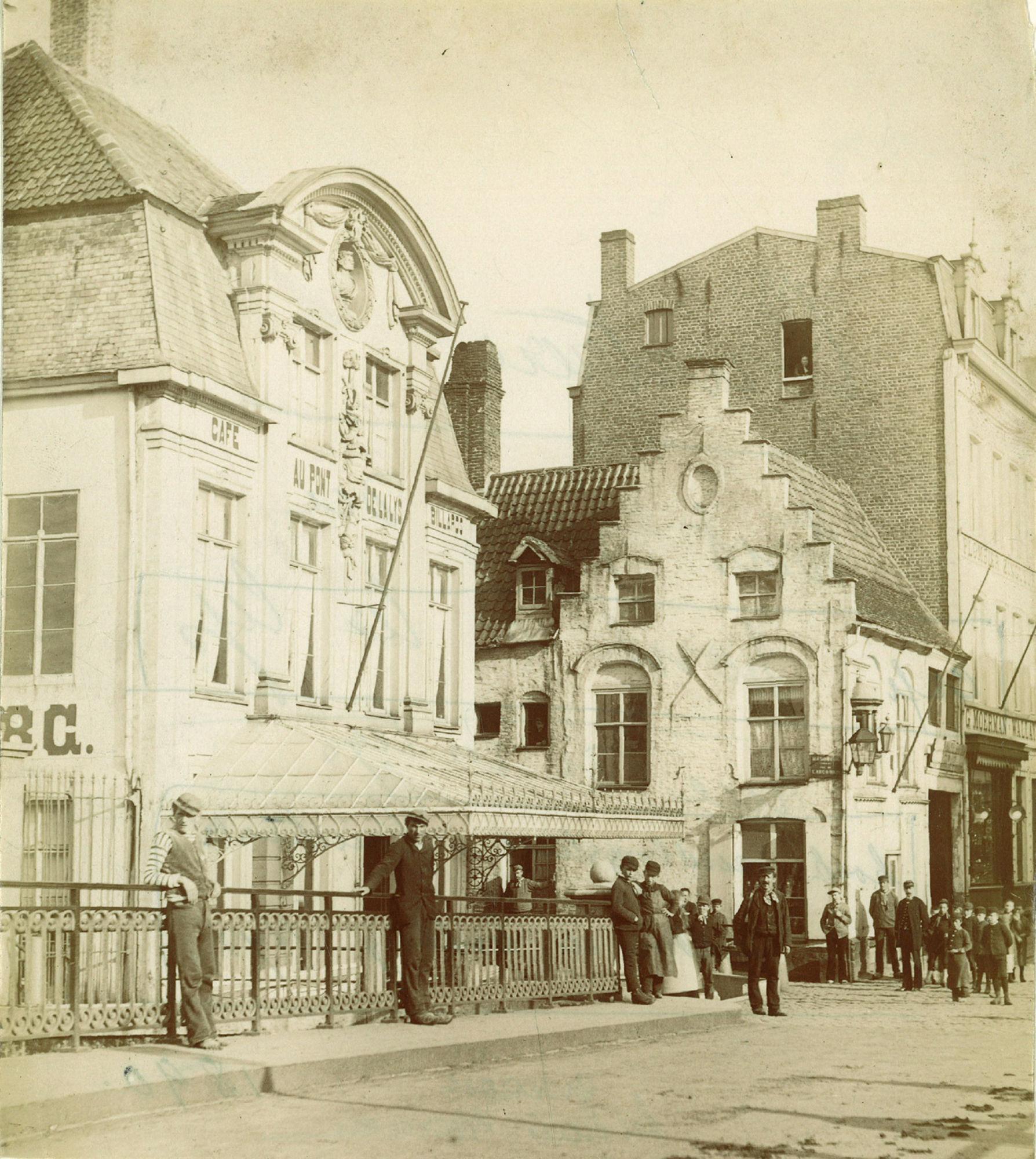 Café Au Pont De La Lys in de Leiestraat