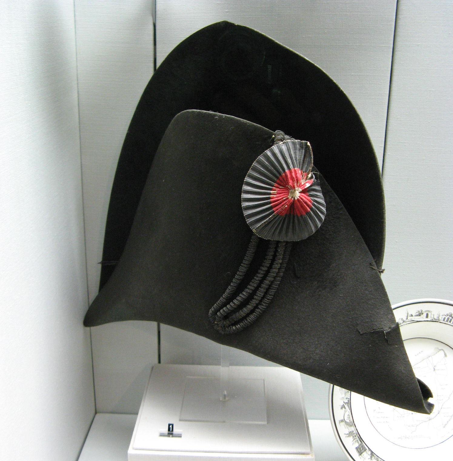 Franse militaire hoed met kokarde