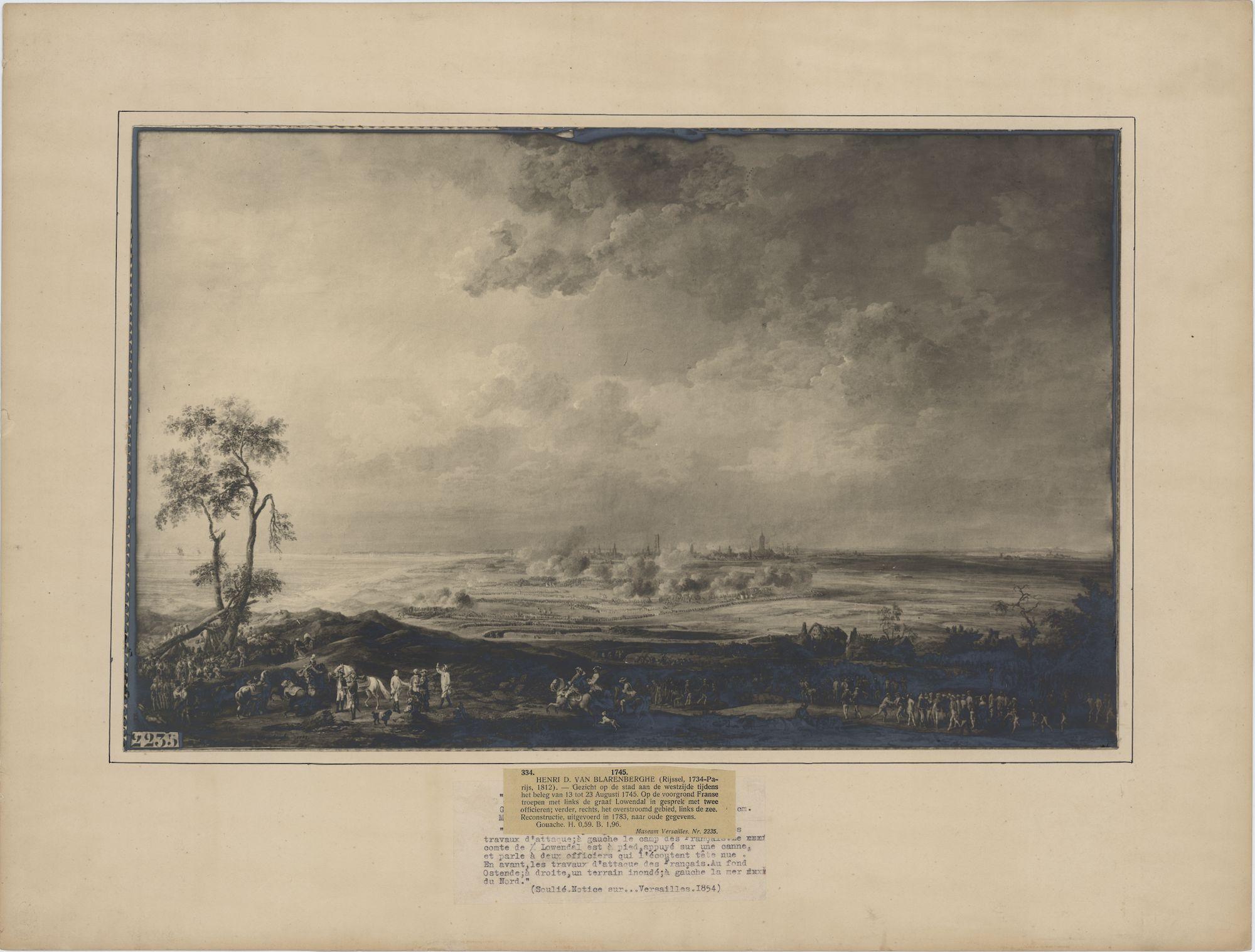Westflandrica - Oostende, het beleg in 1745