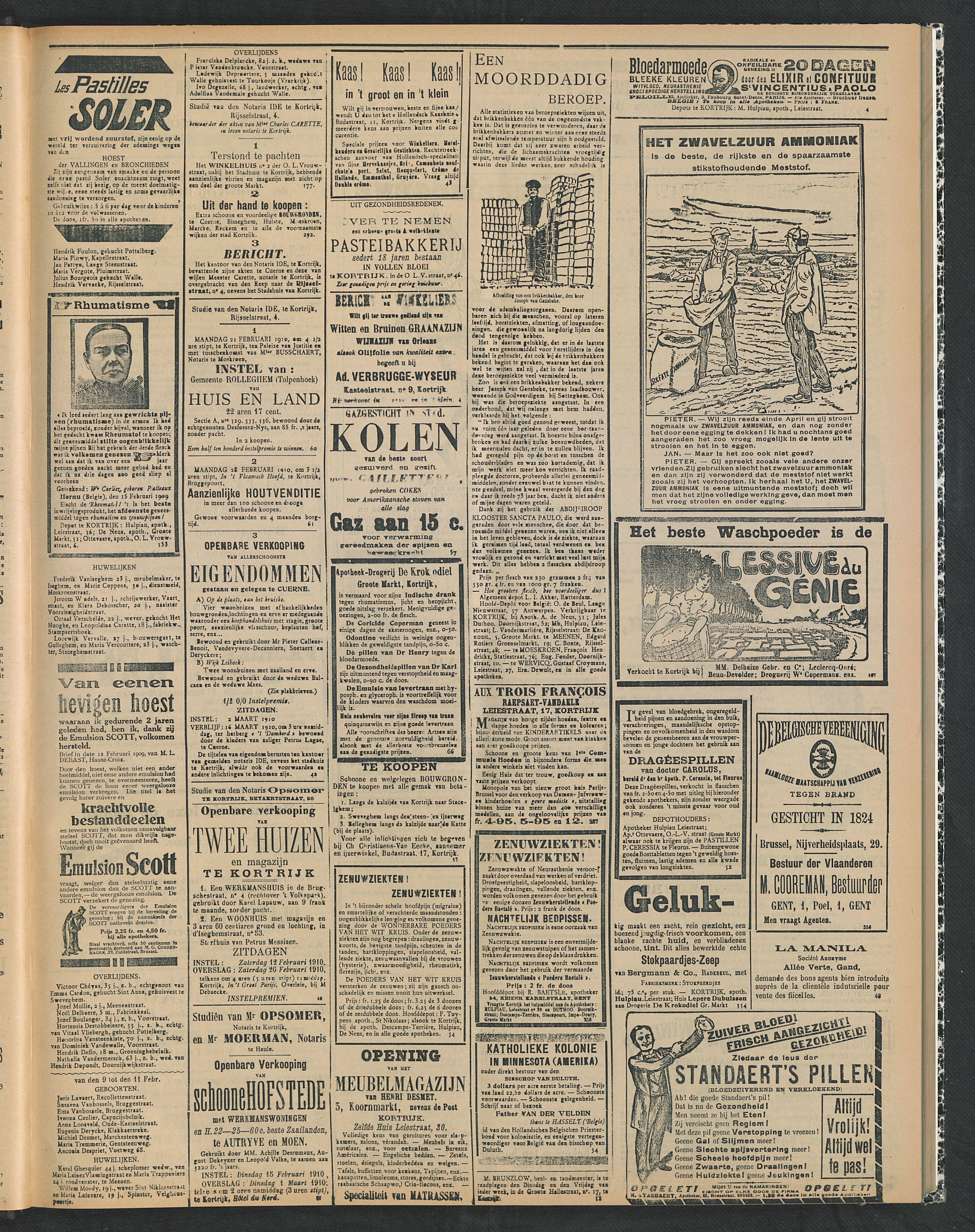 Gazette Van Kortrijk 1910-02-13 p3