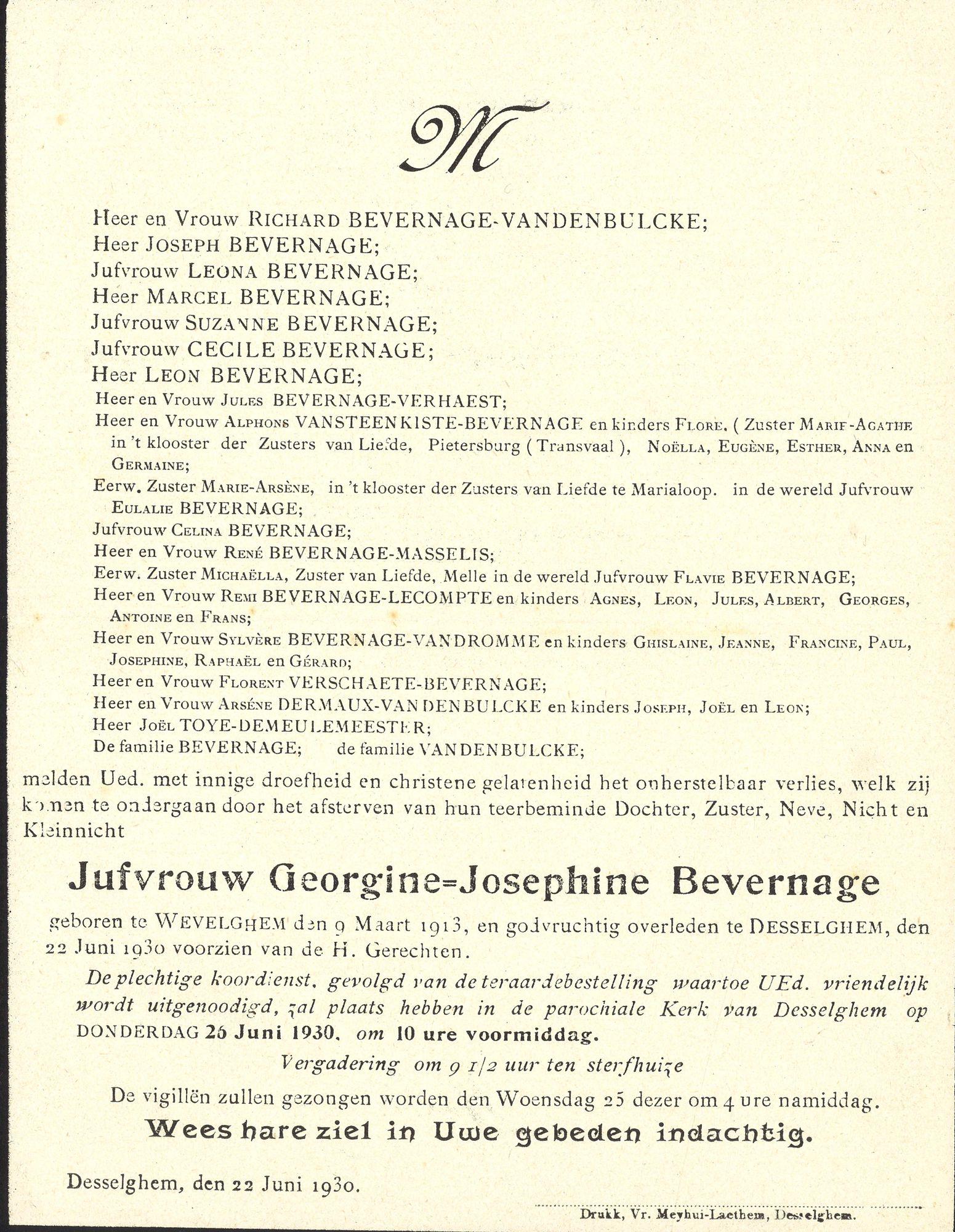 Georgine-Josephine Bevernage