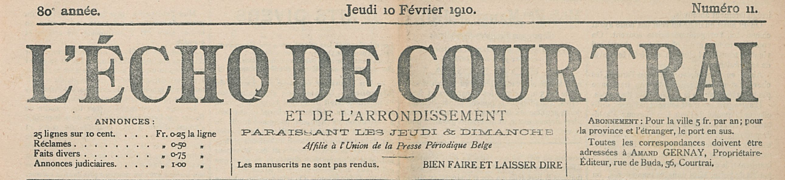 L'ÉCHO DE COURTRAI