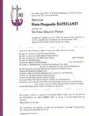 Marie-Marguerite Baekelandt