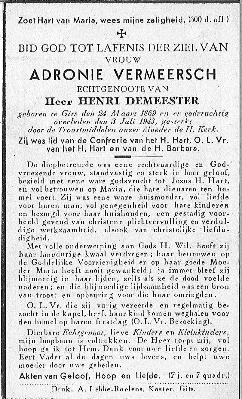 Adronie Vermeersch