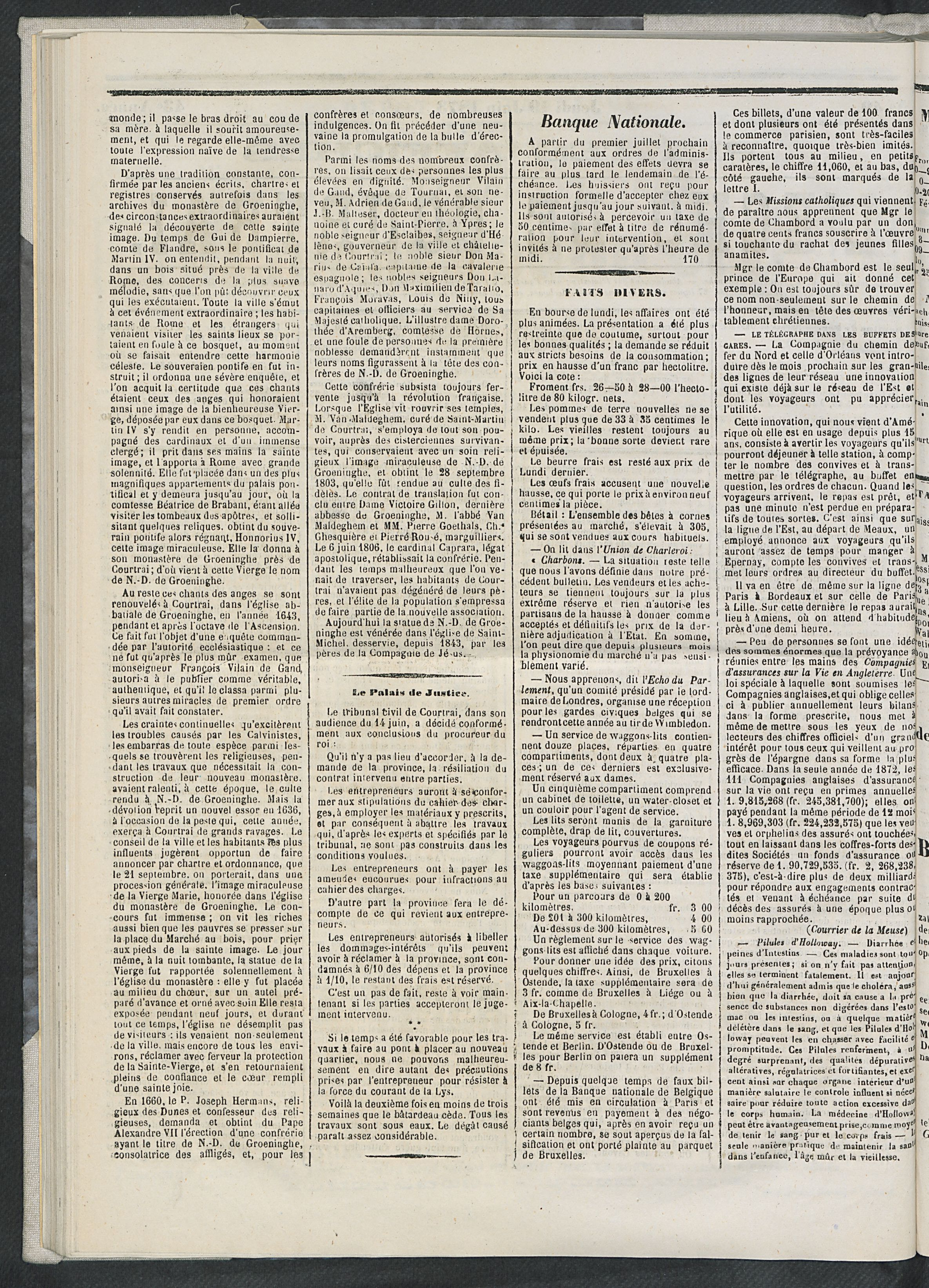 L'echo De Courtrai 1873-06-19 p2
