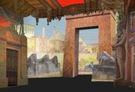 Extérieur égyptien - reconstructie