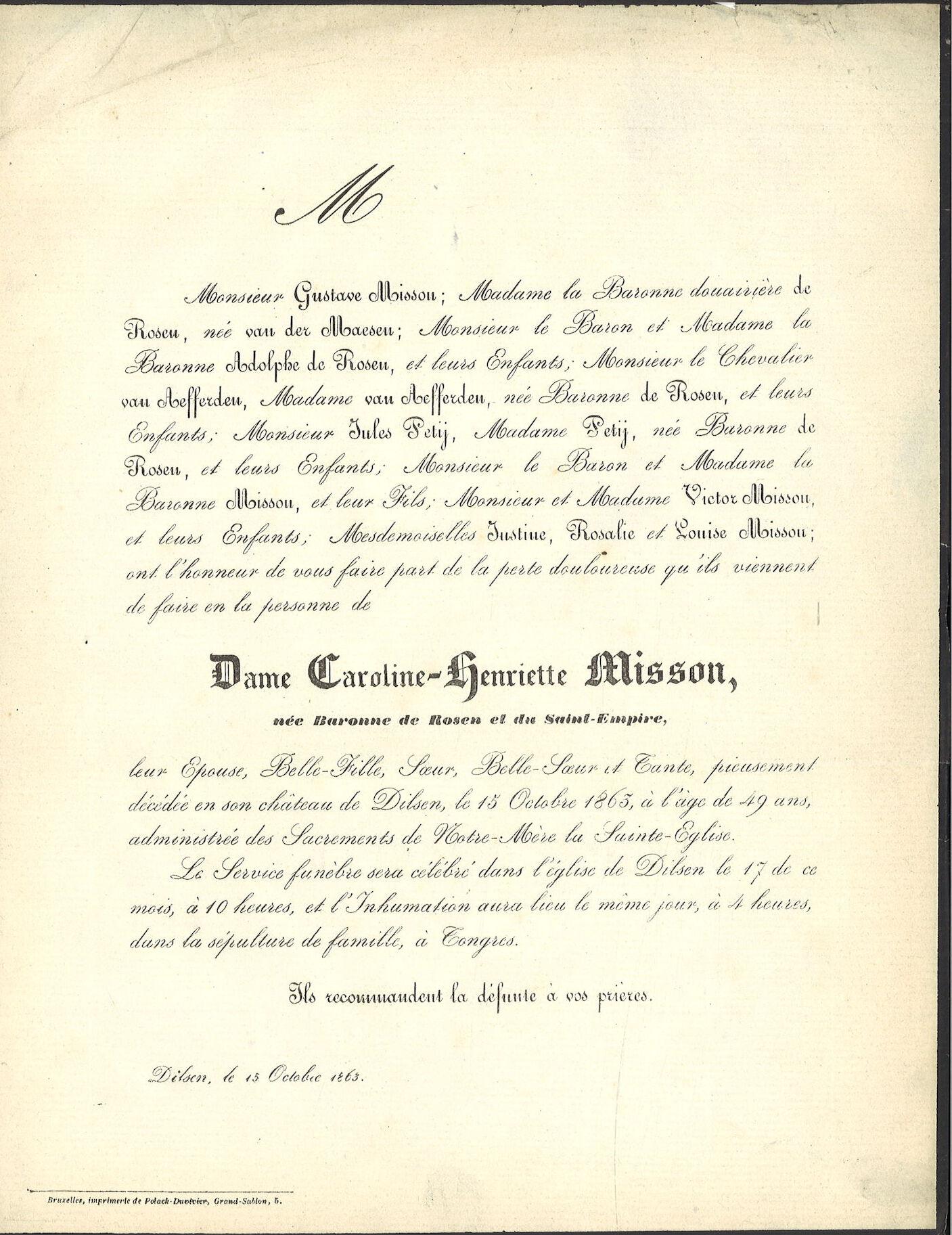 Caroline-Henriette de Rosen et du Saint-Empire