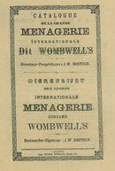 Paasfoor 1889: Grande Menagerie Wombwell's