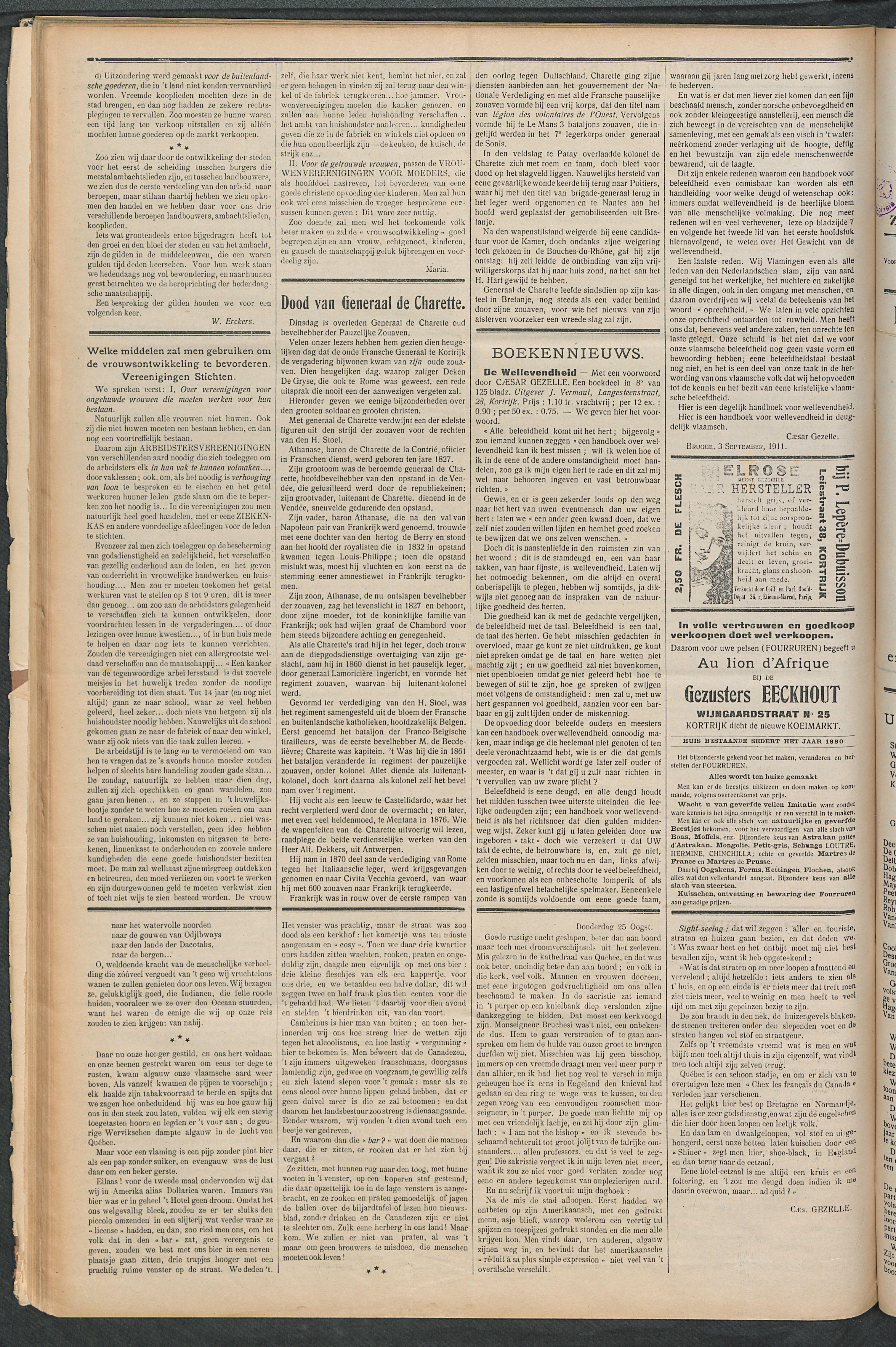 Het Kortrijksche Volk 1911-10-15 p6