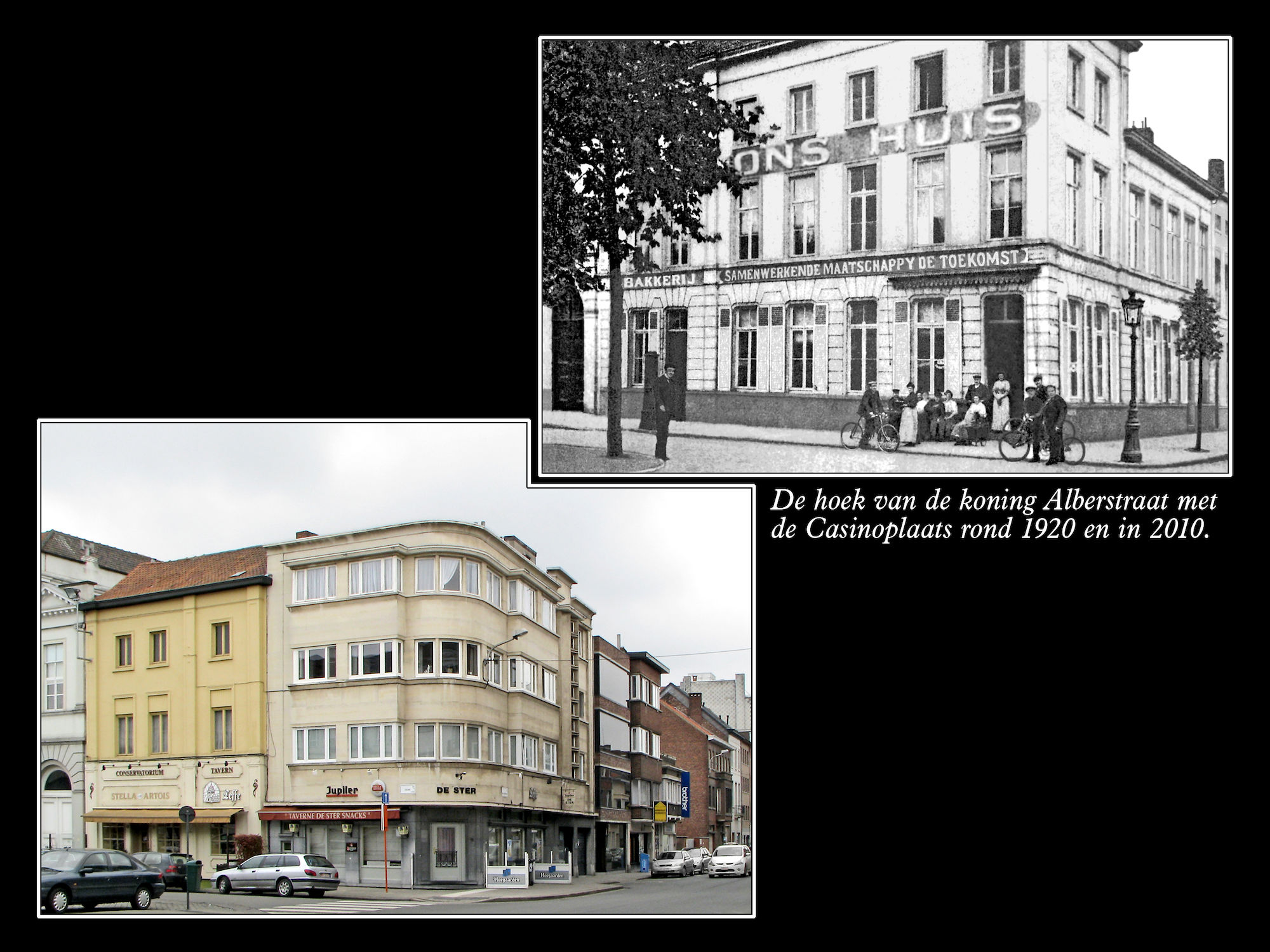 Koning Albertstraat ca 1920 en  2010