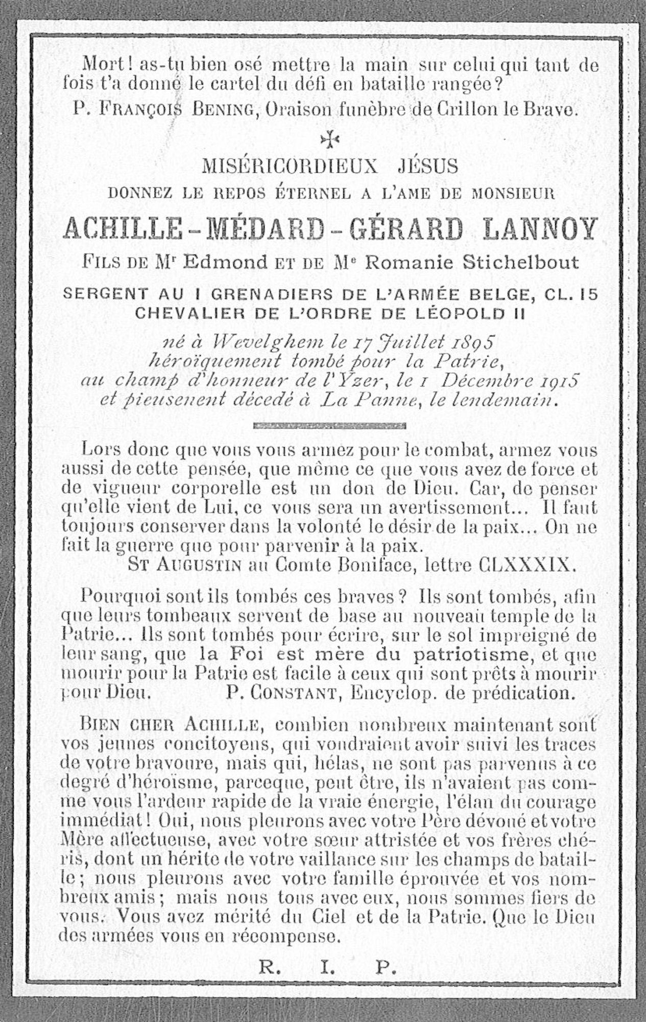 Achille Médard Gérard Lannoy