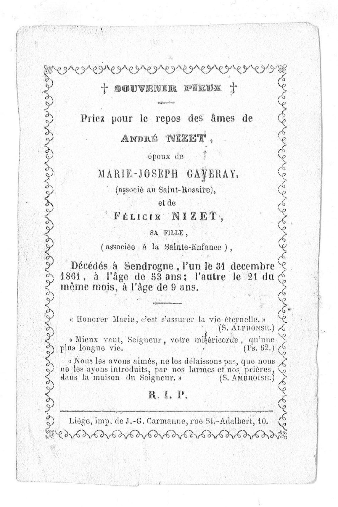 André Nizet en Félice Nizet
