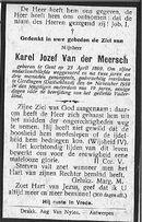 Van der Meersch Karel Jozef