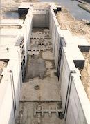 Bouw van de nieuwe sluis op het Kanaal Bossuit-Kortrijk in de Deerlijkstraat te Zwevegem 1991