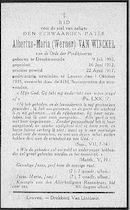 Albertus-Maria (Werner) Van Winckel.