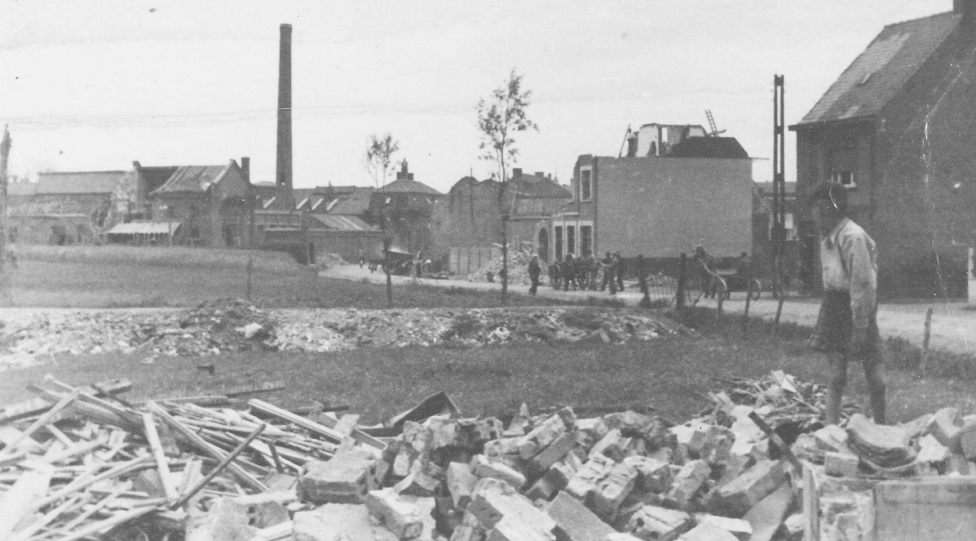 Bombardementen 1943 Marktstraat Marke