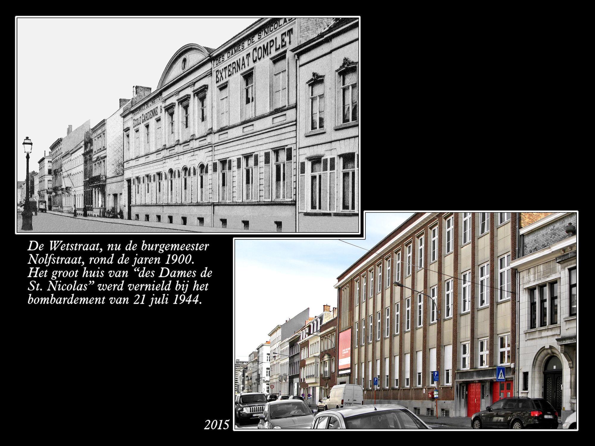 Burgemeester Nolfstraat ca 1900 en 2015