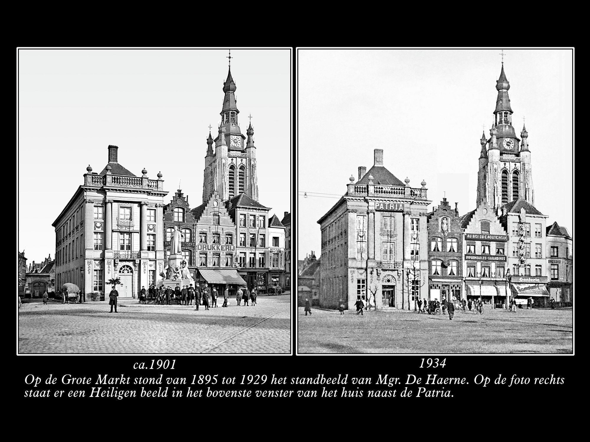 De Grote Markt ca1901 en 1934
