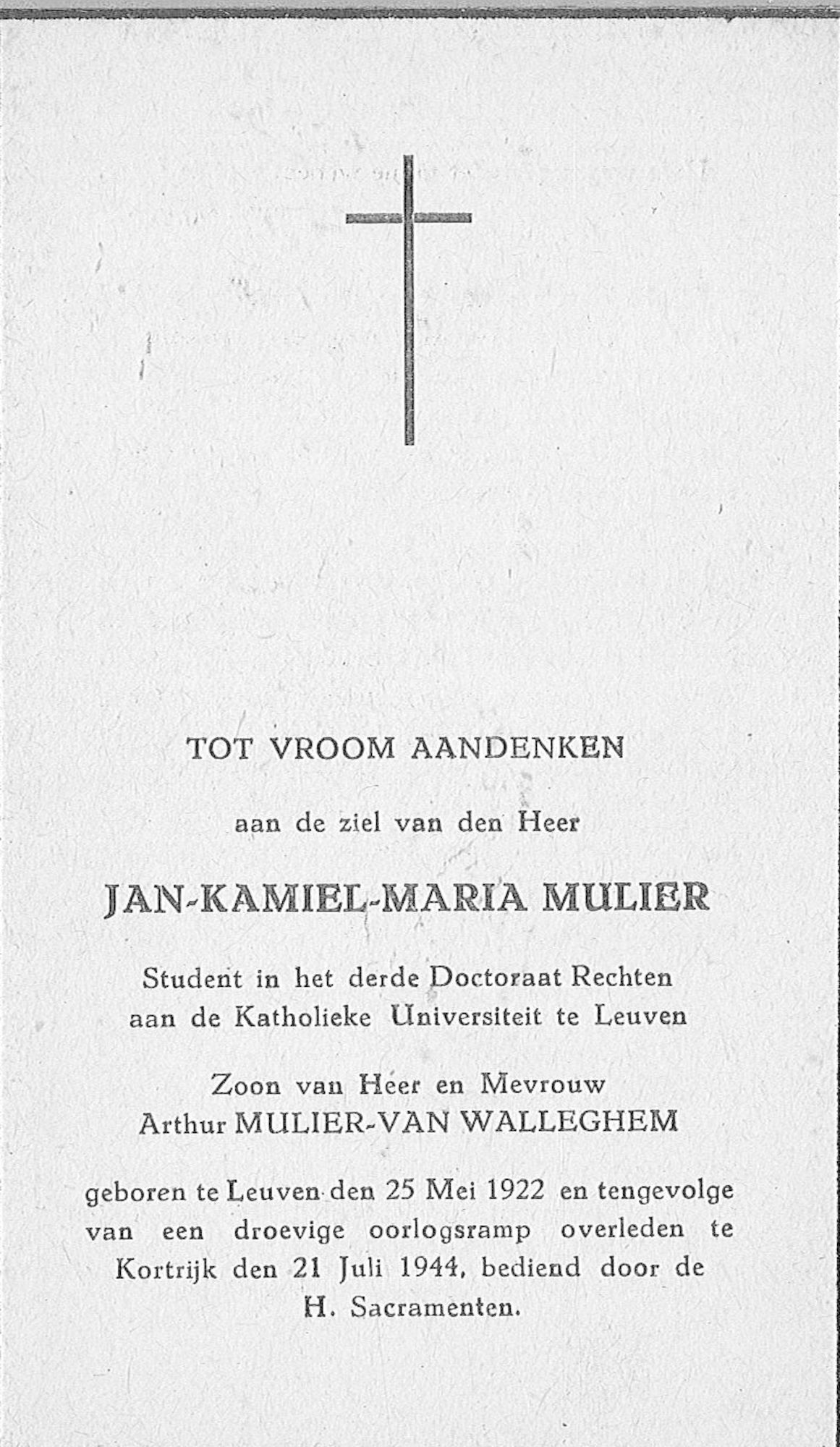 Jan-Kamiel-Maria Mulier