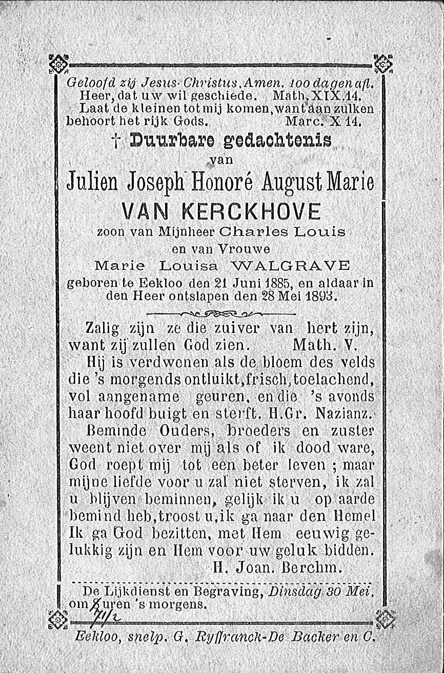 Julien-Joseph-Honoré-August-Marie Van Kerckhove.