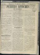 Petites Affiches De Courtrai 1841-07-18
