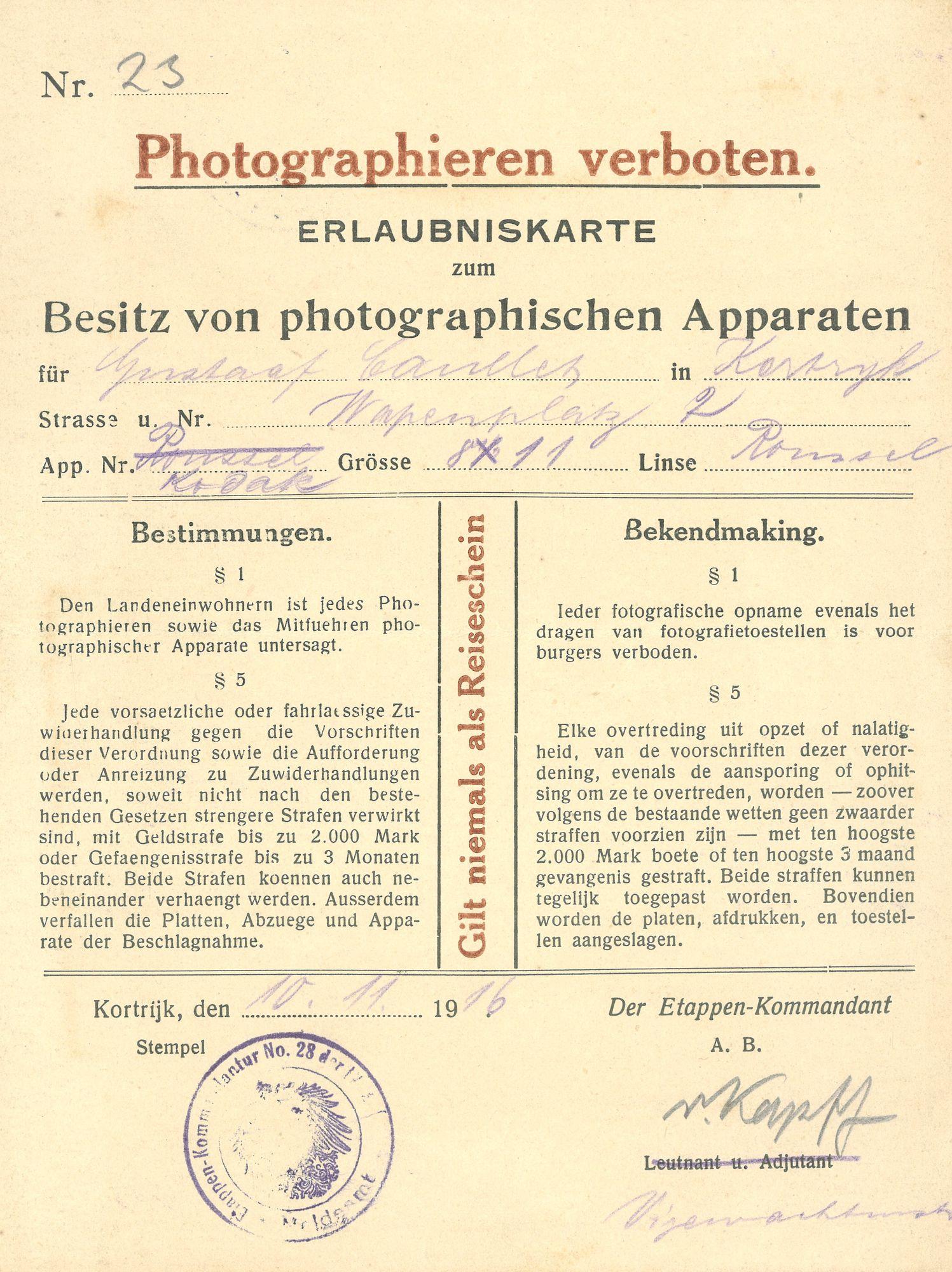 Document Wereldoorlog I