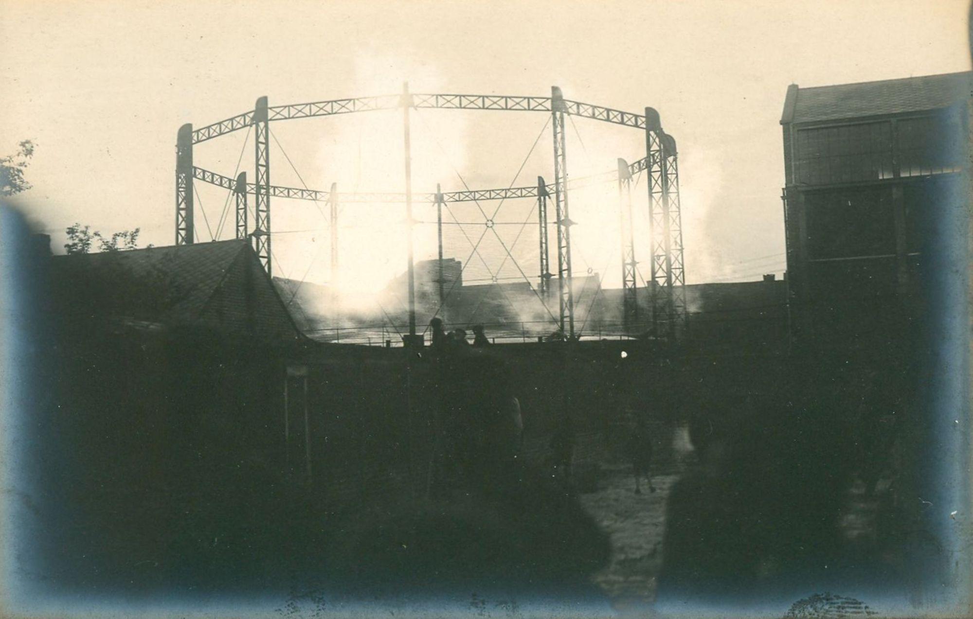 Gasinstallatie in 1918