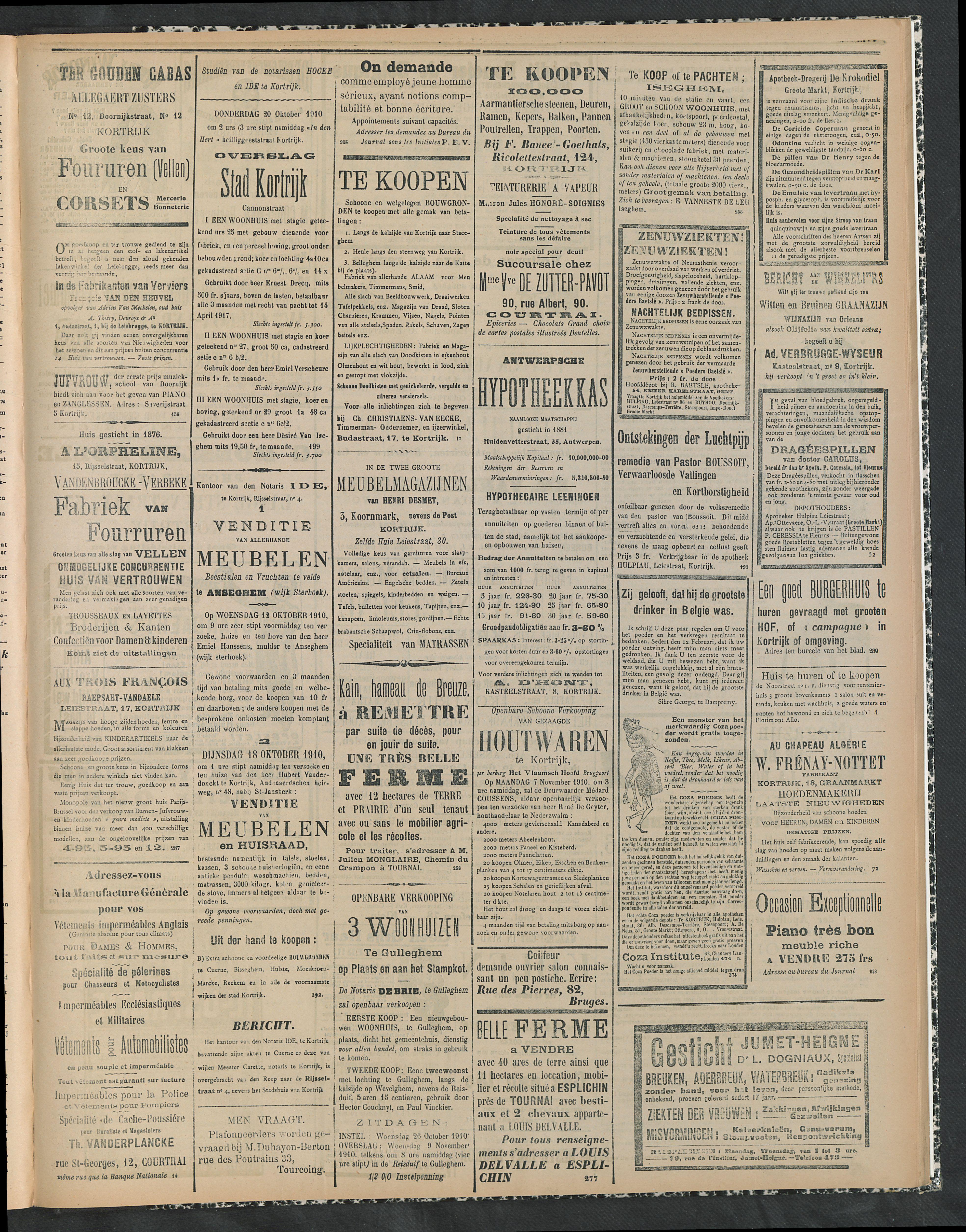 Gazette Van Kortrijk 1910-10-13 p3