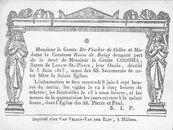 Graaf Coloma, Baron de Leeuw - Saint Pierre